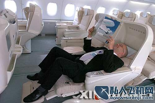 私人飞机内饰图片_A380机身内饰_私人飞机网