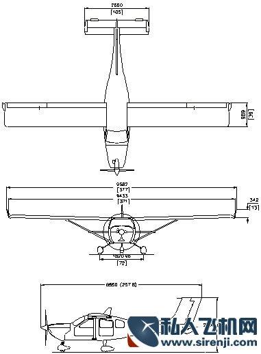 j230d飞机的结构图