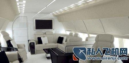 雍容华贵 versace设计顶级私人飞机机舱内饰
