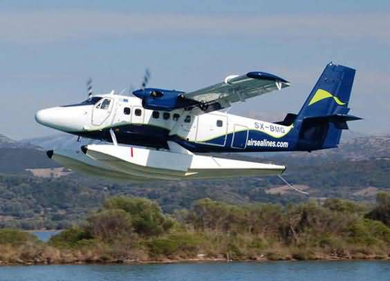 "DHC-6双水濑飞机   ""去年的10月1日,我们开通了南澳至盐田海上巴士,争取今年10月1日开通水上飞机。""昨日下午,大鹏新区管委会主任何永志会见海翔航空亚洲区总裁Peter de Kantzow一行,商讨在南澳发展水上飞机项目相关事宜。洽谈中,何永志如此告诉记者。      据了解,海翔航空是专营水上飞机业务的香港公司,该公司计划投入多架DHC-6双水濑飞机服务于南澳及珠三角地区。据海翔航空高层介绍,旅客搭乘水上飞机从水上升空,每架双引擎水上飞机将配有2名飞行员,可载客16人"