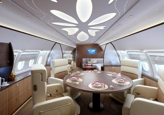 私人飞机内饰图片_国内航企推出中国风豪华公务机内饰设计_私人飞机网