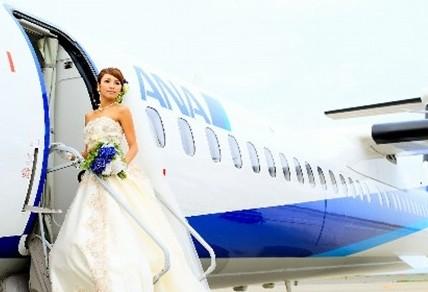 万米高空庞巴迪客机DHC8-Q400举办婚礼