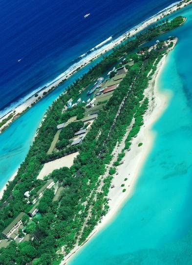 天堂的上方俯拍 马尔代夫水上飞机看天堂