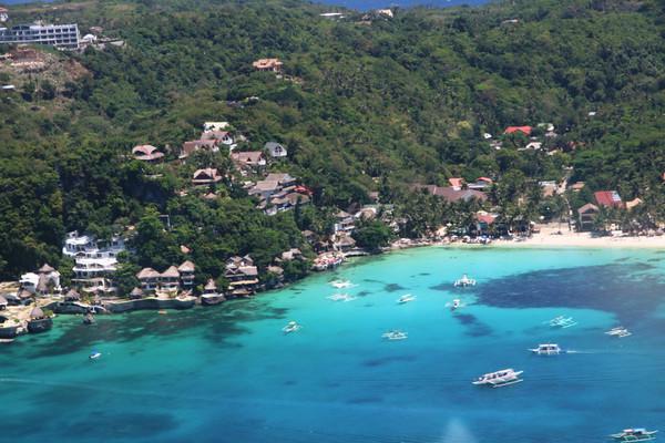纯自助游长滩岛 3000比索直升飞机环岛游