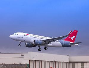 红土航空接收其首架空客A319飞机